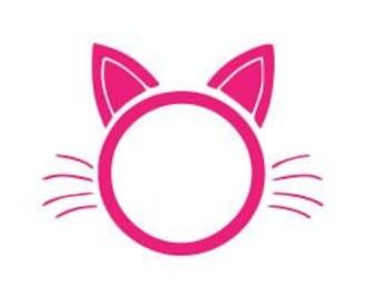 Monogrammable Kitty Head