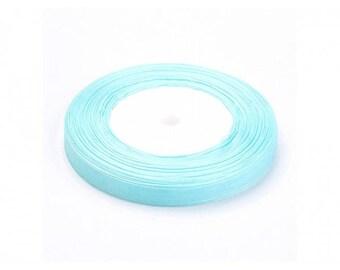 45 m 10mm sky blue organza Ribbon