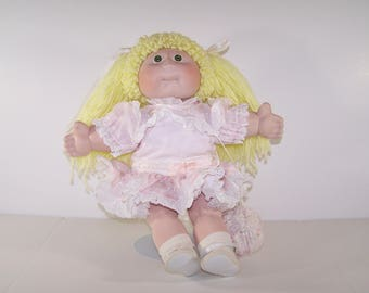 Porcelain Soft Sculpture Cabbage Patch Kids Doll Girl Signed Xavier Roberts 1985