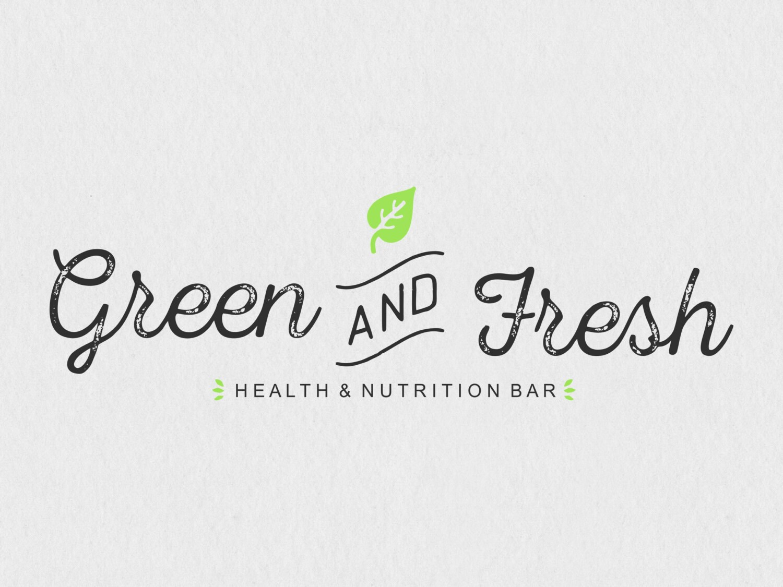 Green And Fresh Logo Nutrition Healthy Food