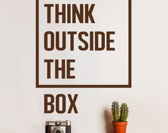 outside the box office. Think Outside The Box Inspirational Motivational Quote Wall Decal For Office, Bedroom, Classroom Decoration Office