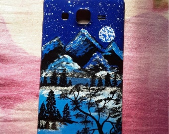 Painted mobile case