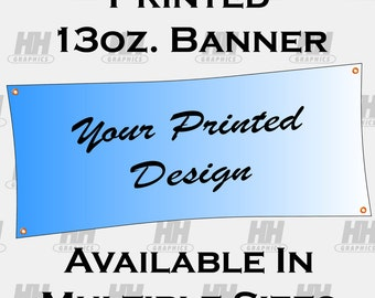 Vinyl Banner Full Color for Event, Trade Show, Craft Show, Fair, Advertising, Party, Printed Banner