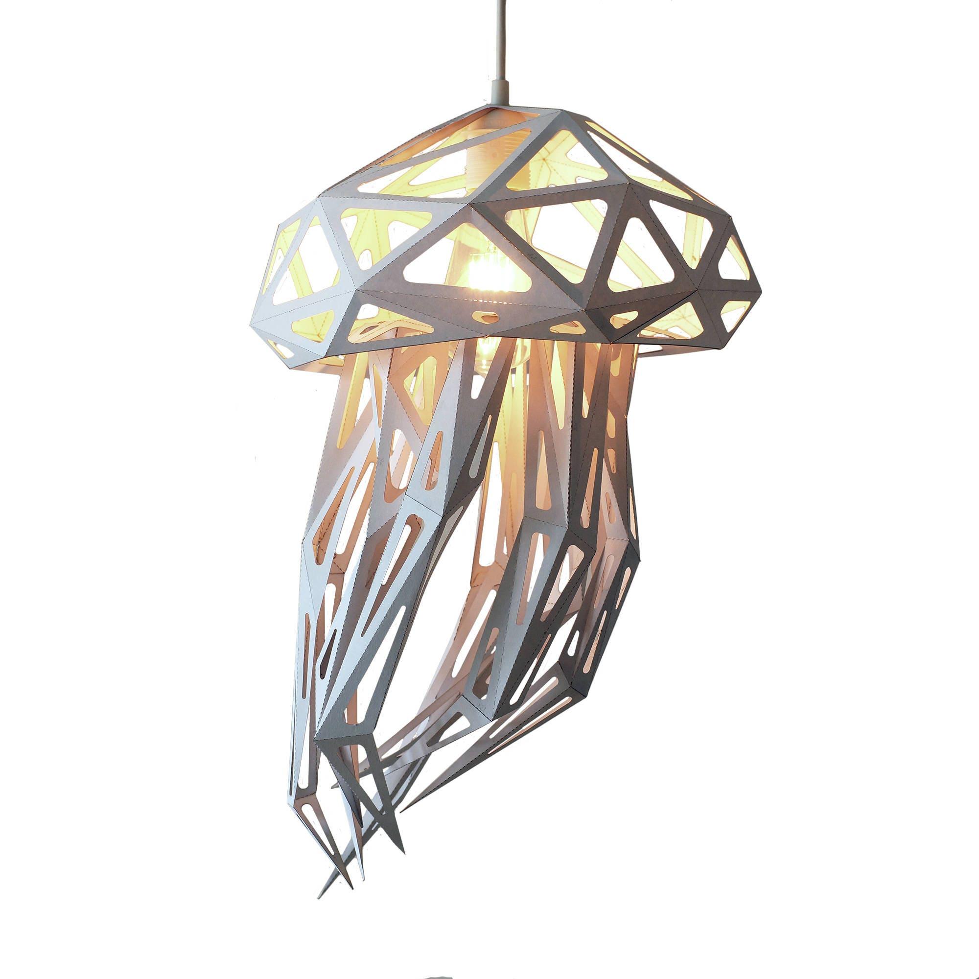 Jellyfish Geometric Lamp Polygonal animals Bedside Lamp for Diy Geometric Lamp  585hul
