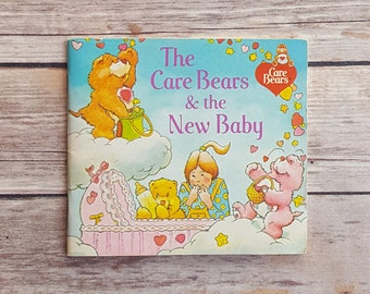 Care Bears Book Vintage New Baby Sibling Book The Care Bears And The New Baby 1980s Pop Culture Story 80s Adventure Clouds Friendship Blue