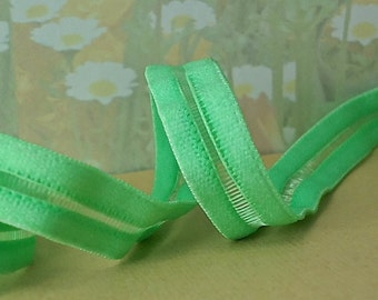 3yds Elastic Ribbon Trim 1/2 inch Mint Green Elastic Stretch Mesh Headbands Fancy Elastic by the yard WST Firm