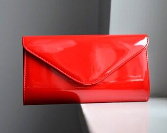 Valentines day SALE Red clutch bag Christmas clutch, holiday handbag, Evening Bag