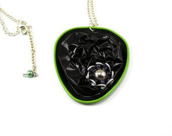 The black and green capsule necklace