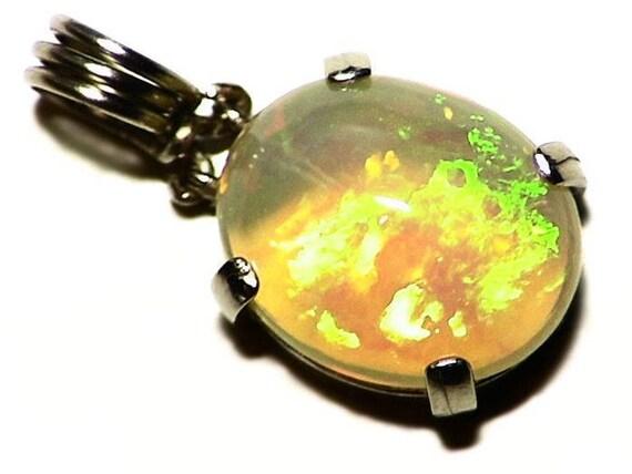 Ethiopian opal pendant in 14k white gold 409 ct aloadofball Gallery