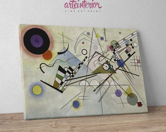 Wassily Kandinsky: Composition VIII,  Fine Art Canvas Prints, Framed and Ready to Hang
