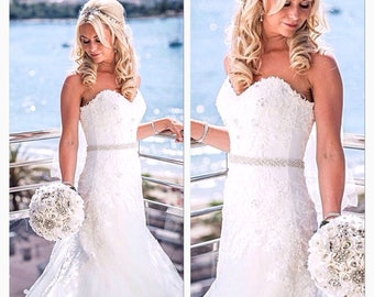 Wedding dress belt, bridal sash, bridal belt, wedding belt,All around bridal sash belt all around bridal sash