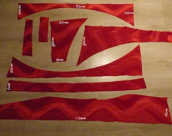 CORRUGATED FABRIC RED WITH HIGHLIGHTS