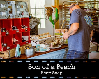 Peach Beer Soap - 5 oz Inglenook Soaps Home Scents Home Goods Son of a Peach Soap Beer Soap  Pthtlatate-Free