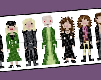 Harry Potter themed Death Eaters Cross Stitch - PDF pattern - INSTANT DOWNLOAD