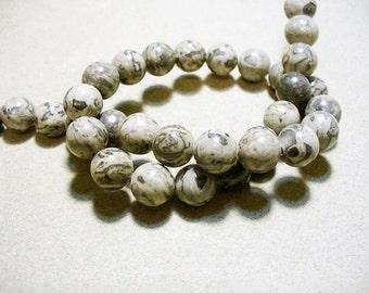 Scenic Jasper Beads Gemstone Round 10MM