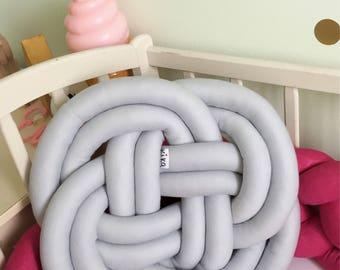 Sale Knot pillow knot cushion ,decorative pillow , modern pillow , minimalist pillow, trendy pillow, handmade pillow, blackfriday gray grey