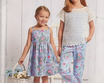 Simplicity Easy to Sew Pattern 8621 DRESS PANTS TOP & Knit Camisole Girls' Sizes  7 8 10 12 14