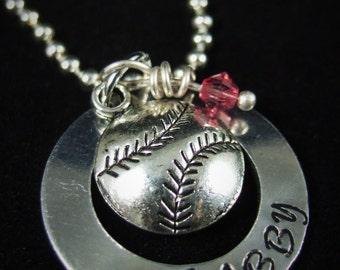 Softball Necklace, Softball Jewelry, Softball Coach Gift, Baseball Coach Gift, Baseball Mom, Baseball Necklace, Baseball Mom