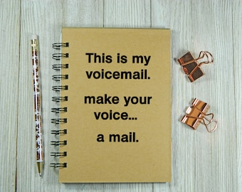 Supernatural inspired - This is my voice mail - Notebook/Journal