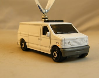 Ford Van - FREE SHIPPING - Anytime Ornament - truck - blank white - decorate yourself?-  Birthday - Fathers Day - Mancave - Dad - work -