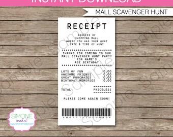 Mall scavenger Etsy