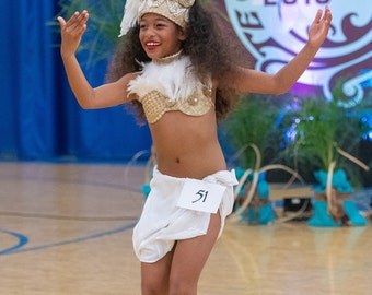 Cook Islands & Tahitian  costume set. Perfect for girls of all ages.