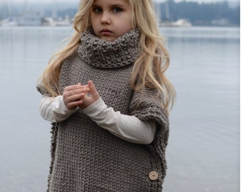 Knitting Pattern - Azel Pullover (2, 3/4, 5/7, 8/10, 11/13, 14/16, adult S/M, adult L/XL sizes)