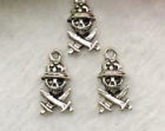 Silver Charms Soldier Skull x15