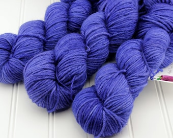 Plush Worsted, 4 oz - Twilight Lake - 100% superwash merino hand dyed, tonal semisolid yarn