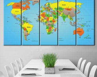 Large usa map poster with push pins push pin travel map us world map print poster canvas travel map with pins push pin world map gumiabroncs Choice Image