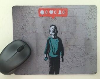 Banksy No Likes funny Mousepad / Mouse Mat