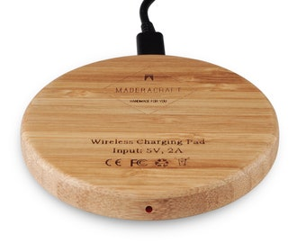 Wireless Charger | Qi Standard | iPhone X Charger | Wooden Wireless Charger  Used For All wireless charging smartphones | Office Decore