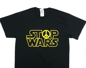 Stop Wars Parody Logo T-Shirt