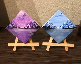 Original mini TWINs set, acrylic painting on canvas