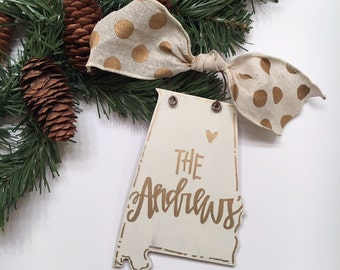 State ornaments / personalized states