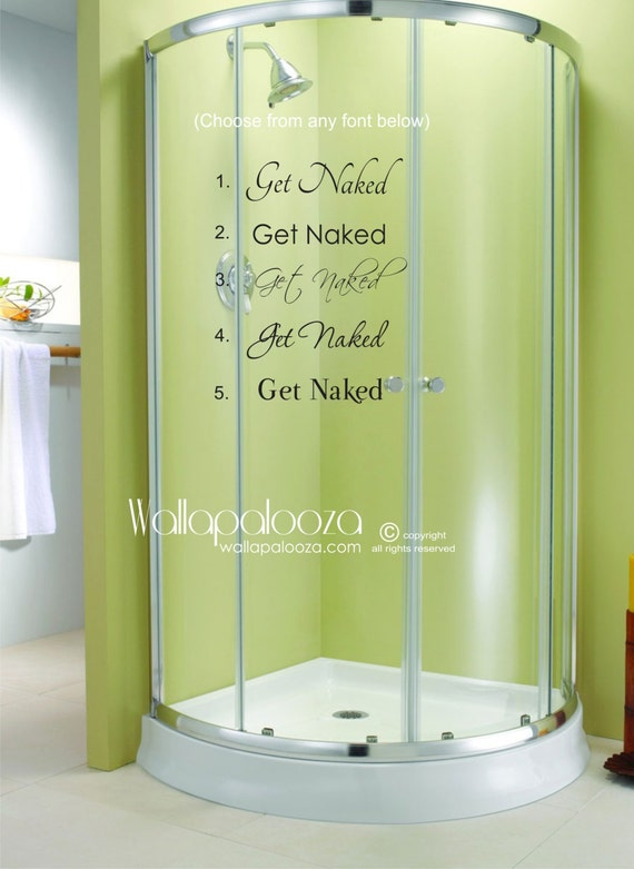 Get Naked Decal Bathroom Wall Decal Bathroom Wall Art