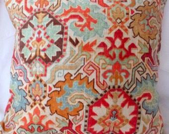 Ikat Pillow Cover - Linen blend pillow - Decorative pillow cover - Designer fabric cover - Throw pillow - accent pillow cover - Fall Pillows