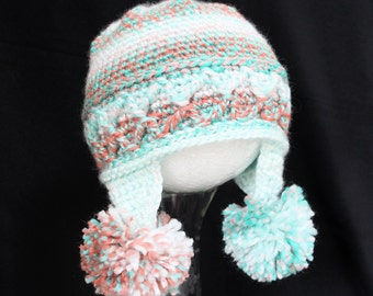 Double Puff Ear Flap Hat