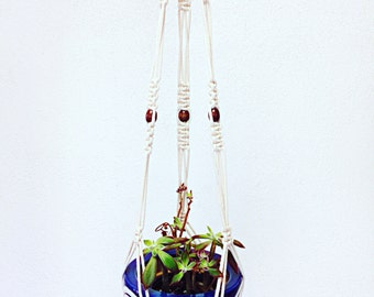 "Macrame Plant Hanger / Natural Cotton / 48"" Long"