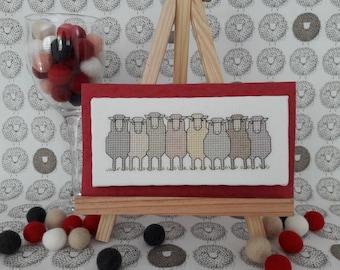 New Zealand Sheep cross stitch pdf pattern
