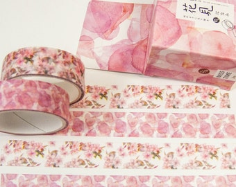 Masking Washi Tape-watercolor blossoms/Filoxafing DIY scrapbooking deco tape