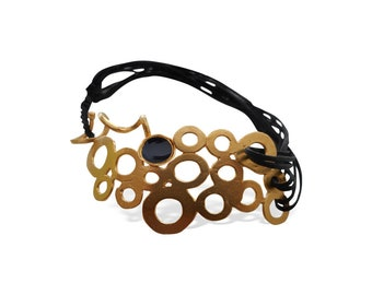 Statement Bracelet for Women, Geometric Bracelet for Her, Handmade Unique Design, Special Occasion Gift, Gift Ideas for Women, Porpe