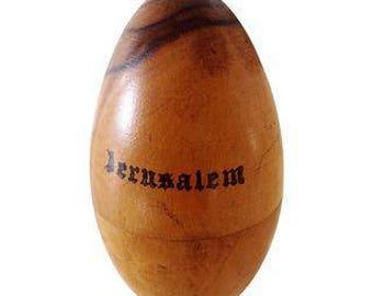 Jerusalem Wooden Egg Needle Holder
