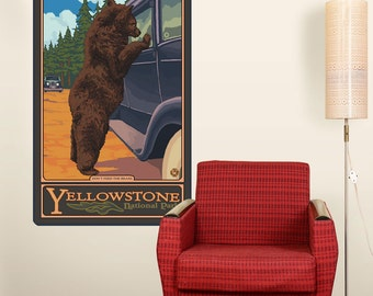 Yellowstone Dont Feed the Bear Wall Decal - #60771