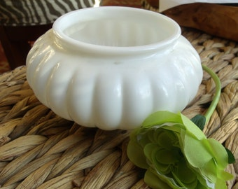 Milk Glass Display Bowl
