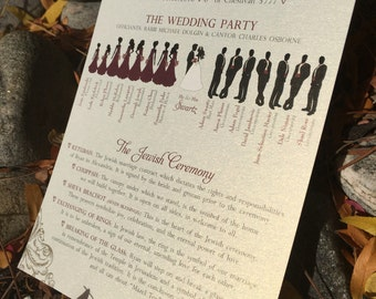 DEPOSIT for Custom Wedding ceremony program