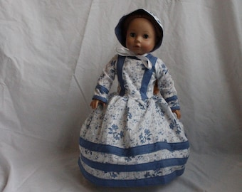 Civil War Doll Dress, Hoop Skirt and Bonnet, Historical Doll Clothes, Doll Clothes Every Girl Wants, Christmas and Birthday Gift Ideas, Toys