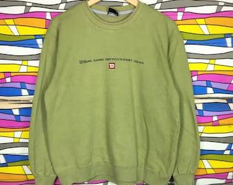 Rare !! Vintage WILSON tennis sportwear clothing Crewneck Small Logo Green Colour Sweatshirt