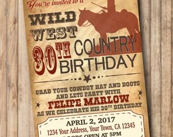 COWBOY Party Invitation * Western Invitation * Wild West * Cowboy Birthday Invitation * Printable Invitation DIY Digital