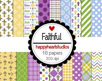 DigitalScrapbooking Instant Download-Faithful